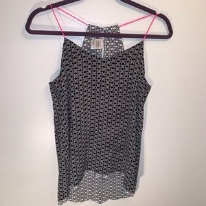 Black/White/Hot Pink Camisole Small